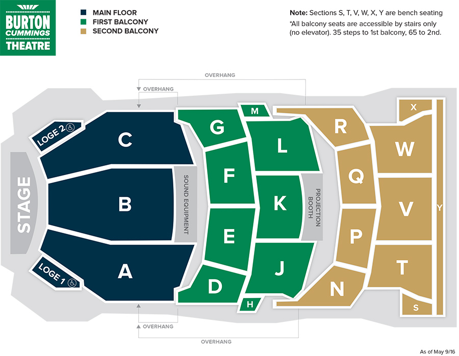 Burton Cummings Theatre Seating Chart